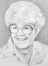 pencil portrait drawing of lady from photo