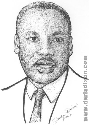 martin luther king jr pen portrait MLK
